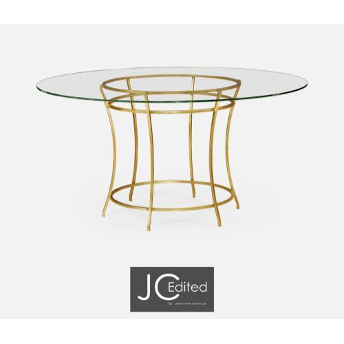 Gilded iron round dining table
