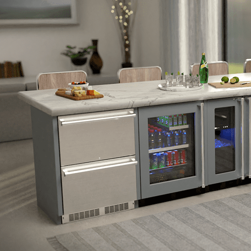 24-In Professional Built-In Refrigerated Drawers With Adjustable Dividers with Door Style - Stainless Steel