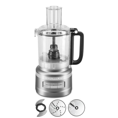 KitchenAid - 9 Cup Food Processor - Contour Silver