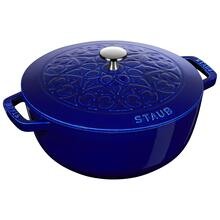Staub Cast iron 5-qt Essential French Oven with Lilly Lid - Visual Imperfections - Dark Blue