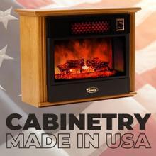 View Product - Original SUNHEAT USA Infrared Fireplace - Golden Oak