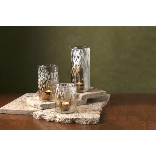 TY Luxe Glass Hurricanes - Set of 3