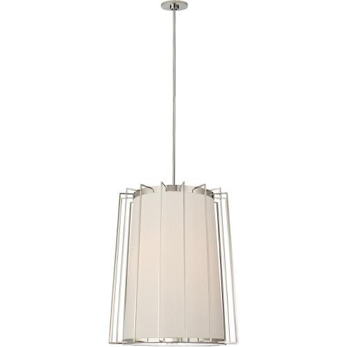 Visual Comfort BBL5013PN-L Barbara Barry Carousel 2 Light 24 inch Polished Nickel Lantern Pendant Ceiling Light, Medium Tapered