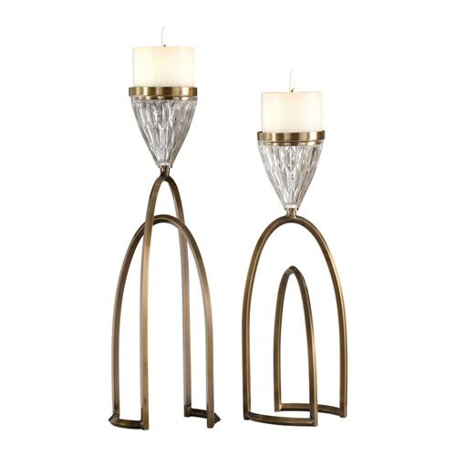 Carma Candleholders, S/2