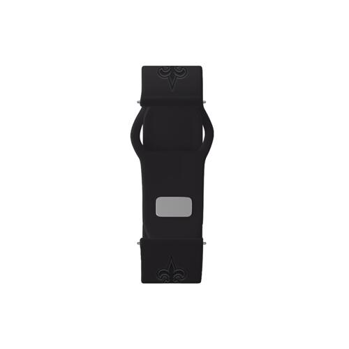 New Orleans Saints Debossed Silicone Watch Band (22mm) Black