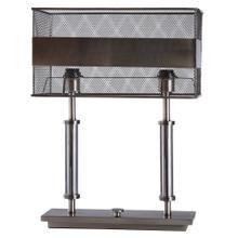 KEMPER TABLE LAMP  Iron Finish on Metal Body  Metal Shade  100 Watt