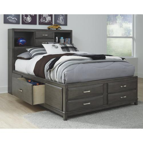 Caitbrook Full Storage Bed With 7 Drawers