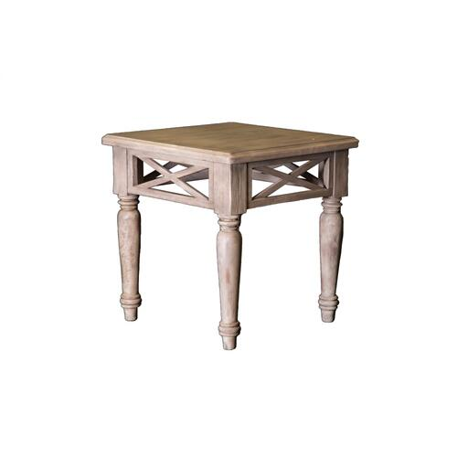 Capris Furniture - Lamp Table, Available in Aged White Finish Only.