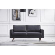 See Details - 8121 DARK GRAY Linen Stationary Basic Sofa
