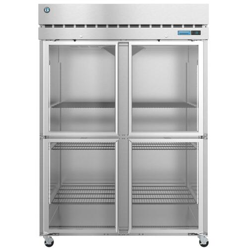 R2A-HG, Refrigerator, Two Section Upright, Half Glass Doors with Lock