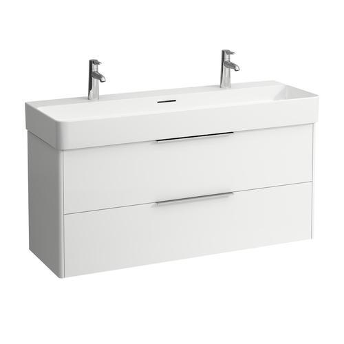 Traffic Grey Vanity unit, 2 drawers, incl. drawer organizer, matching washbasin 810289
