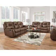 Manual Reclining Console Loveseat *Special Pricing-Empire Mocha Fabric Only*