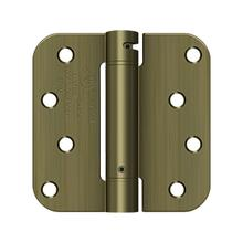 "4"" x 4"" x 5/8"" Spring Hinge, UL Listed - Antique Brass"
