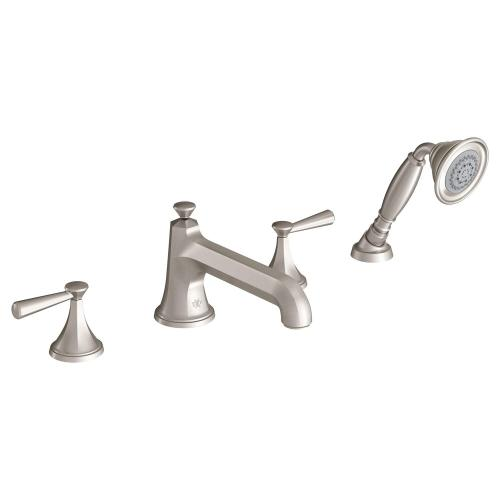 Fitzgerald Deck Mount Tub Filler with Hand Shower - Brushed Nickel