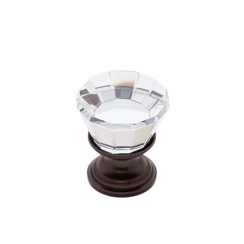 Old World Bronze 22 mm Flat Top Crystal Knob