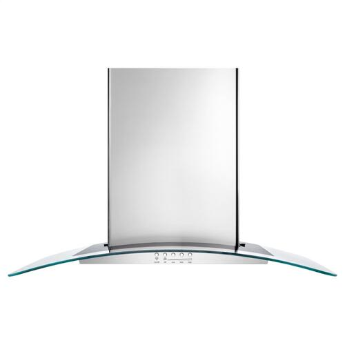 "36"" Convertible Wall-Mount 400-CFM Glass Canopy Hood"