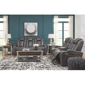 Turbulance Power Reclining Sofa and Loveseat Quarry