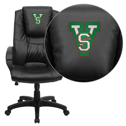 Mississippi Valley State University Devils Embroidered Black Leather Executive Office Chair
