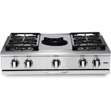 "36"" 4 Burner w/Power-Wok Gas Rangetop - NG"