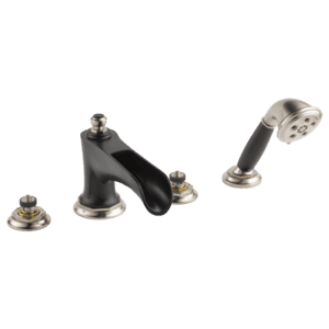 Roman Tub Faucet With Channel Spout and Handshower - Less Handles Product Image