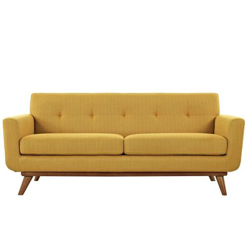 Engage Sofa Loveseat and Armchair Set of 3 in Citrus
