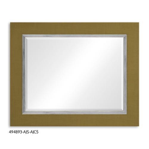 """""""Teal Homespun"""" mirror (Sage/Silver)"""