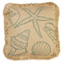 Product Image - Blue Shells Burlap Pillow