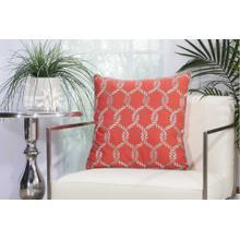 "Outdoor Pillows L1507 Coral/aqua 20"" X 20"" Throw Pillow"