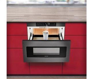 "24"" Microwave Drawer; Black Stainless Steel, Hidden Control Panel"