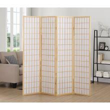 See Details - 4 Panel Natural Oriental Shoji Screen / Room Divider