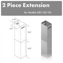"See Details - ZLINE 71"" Extended Chimney (2PCEXT-681i-30/36)"