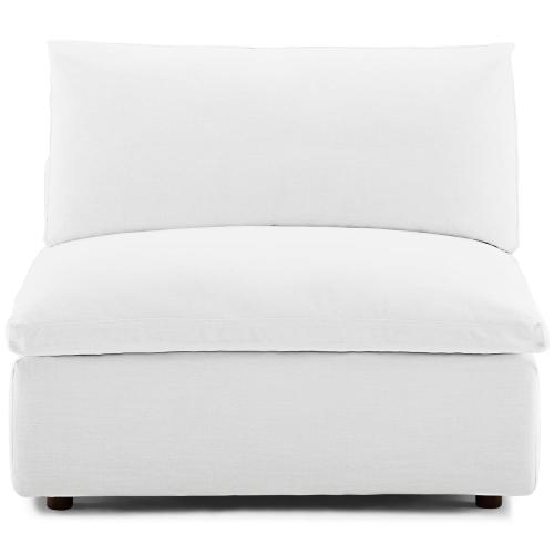 Modway - Commix Down Filled Overstuffed Armless Chair in White