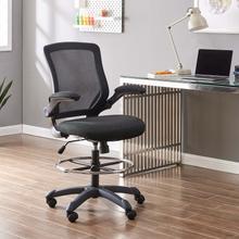 See Details - Veer Drafting Chair in Black