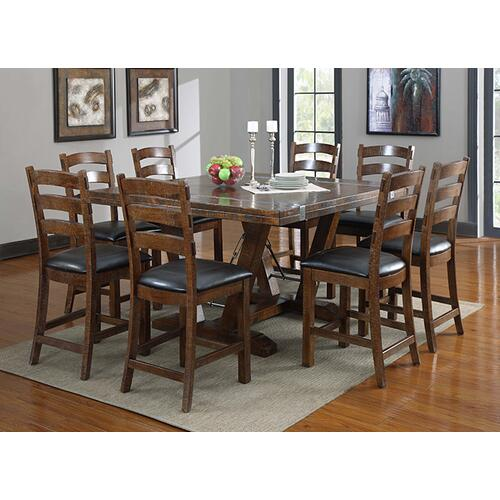Castlegate Gathering Height Dining Table, Pine Brown D942dc-16-k