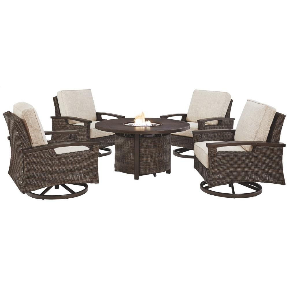 See Details - Outdoor Fire Pit Table and 4 Chairs