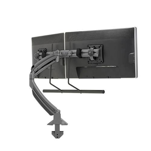 Kontour K1D Dynamic Desk Clamp Mount, Dual Monitor Array