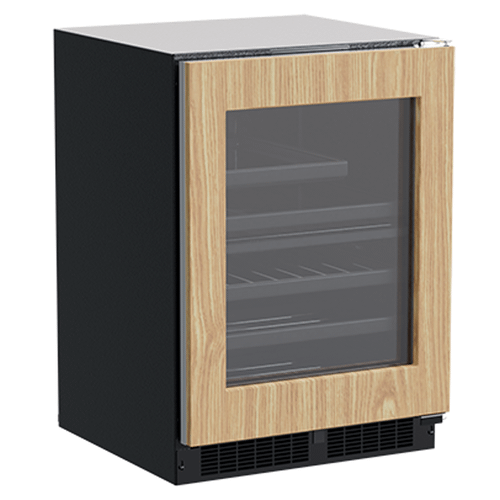 24-In Built-In Dual Zone Wine And Beverage Center with Door Style - Panel Ready Frame Glass
