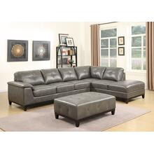 Emerald Home Marquis 2pc Sectional W/6 Seats Grey U4289m-11-12-13-k
