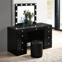 Avery Vanity Top W/led Black