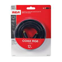 View Product - RCA 12 Ft Digital RG6 Coaxial Cable - Black