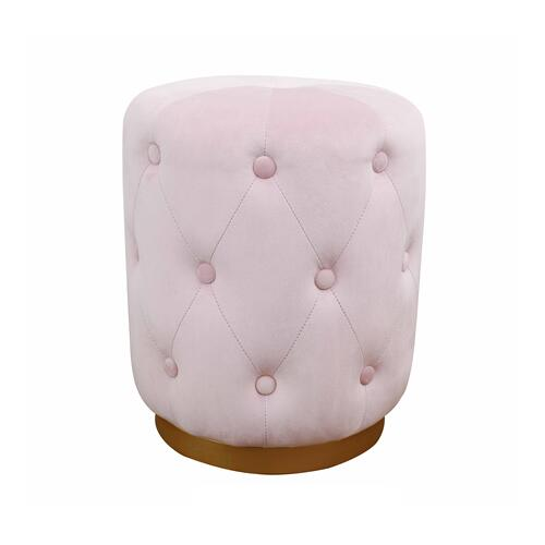 Tov Furniture - Skylar Blush Velvet Ottoman