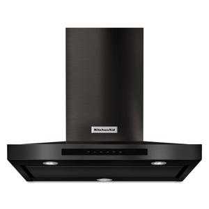 "KitchenAid30"" Wall-Mount, 3-Speed Canopy Hood - Black Stainless Steel with PrintShield™ Finish"