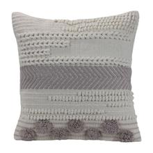 See Details - 18x18 Hand Woven Aleks Pillow Gray