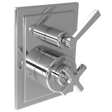 Cross handle pressure balance with lever 2-way diverter trim only, to suit M1-4101 rough