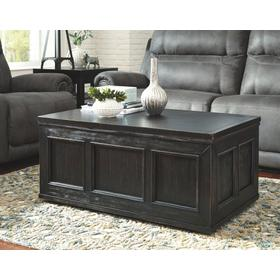 Gavelston Lift Top Cocktail Table Rubbed Black