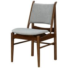 Wembley KD Fabric Chair Dark Walnut Frame, Studio Gray