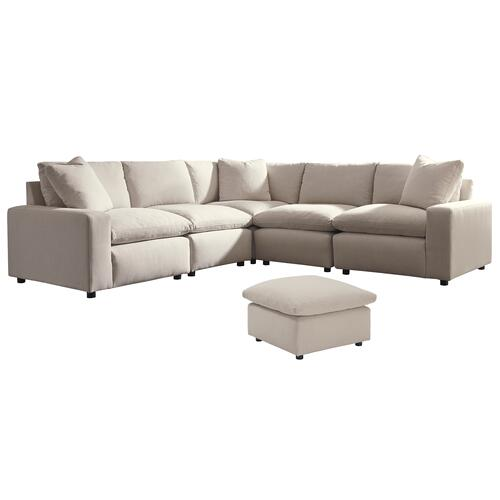 Ashley - 6-piece Sectional With Ottoman