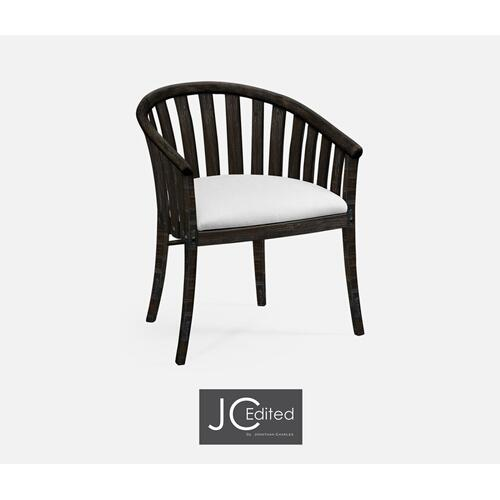 Dark Ale Style Tub Arm Chair, Upholstered in COM