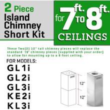 ZLINE Short Kit for Ceilings Under 8 feet ISLAND (SK-GL1i/GL2i/KE2i/KL3i)