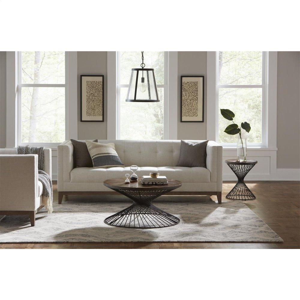 See Details - Round Side Table - Nomad Finish